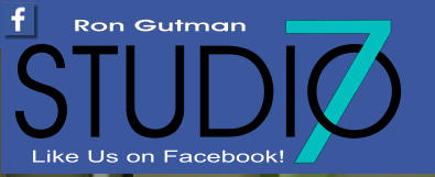 Like Us on Facebook! 7 STUDIO Ron Gutman
